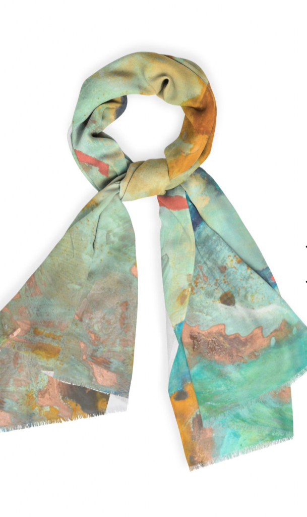 Scarf Geographical Mosaic by Barbara Arnold